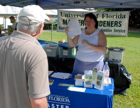 Master Gardeners were on hand to solve problems.