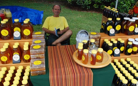 Miguel Bode brought his wide assortment of honey.
