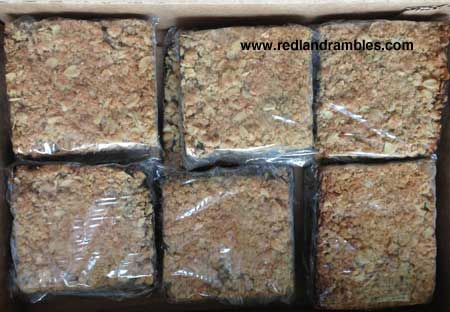 Black sapote bars wrapped, boxed and ready for market.