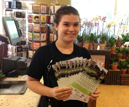 Dejah, a customer service cashier, did her part to set out flyers at each cash register at the South Beach store.