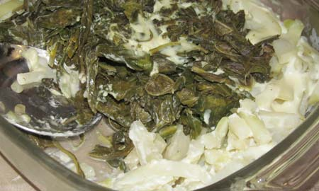 Kohlrabi with white sauce