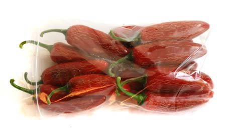 One pound of red jalapeno peppers.